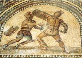 an essay on ancient roman entertainment gladiatorial combat Grade 9 writing informational essay  complete remains of an ancient roman gladiator school the massive school, built during the 2nd century  big entertainment.