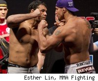Nogueira vs. Brendan Schaub at UFC 134 in Rio.