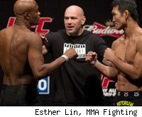 Anderson Silva faces Yushin Okami at UFC 134 in Brazil.