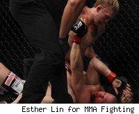 Alexander Gustafsson TKOs Matt Hamill at UFC 133.