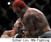 Chris Leben knocks out Wanderlei Silva at UFC 132.