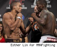 Edson Barboza takes on Anthony Njokuani at UFC 128.