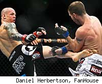 Ross Pearson beats Spencer Fisher at UFC 127.