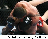 Kyle Noke submits Chris Camozzi at UFC 127.