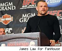 Chuck Liddell retires at the UFC 125 pre-fight press conference.