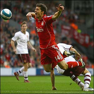 Xabi Alonso can fly.