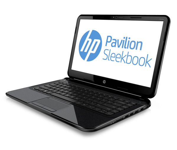 Hp pavilion sleekbook 14_black_left facing