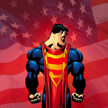 Superman-and-american-flag