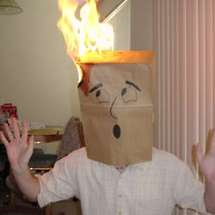 Bag-head-fire