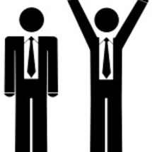 3570465-business-man--stick-figures-one-with-arms-up-celebrating-wearing-business-ties