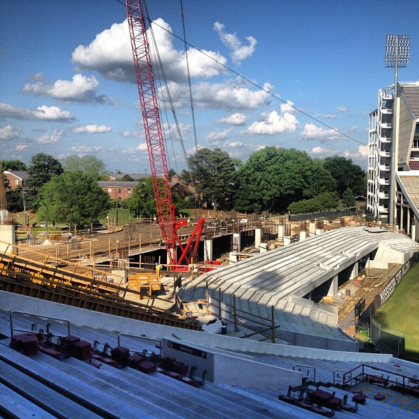 DWS endzone expansion progress