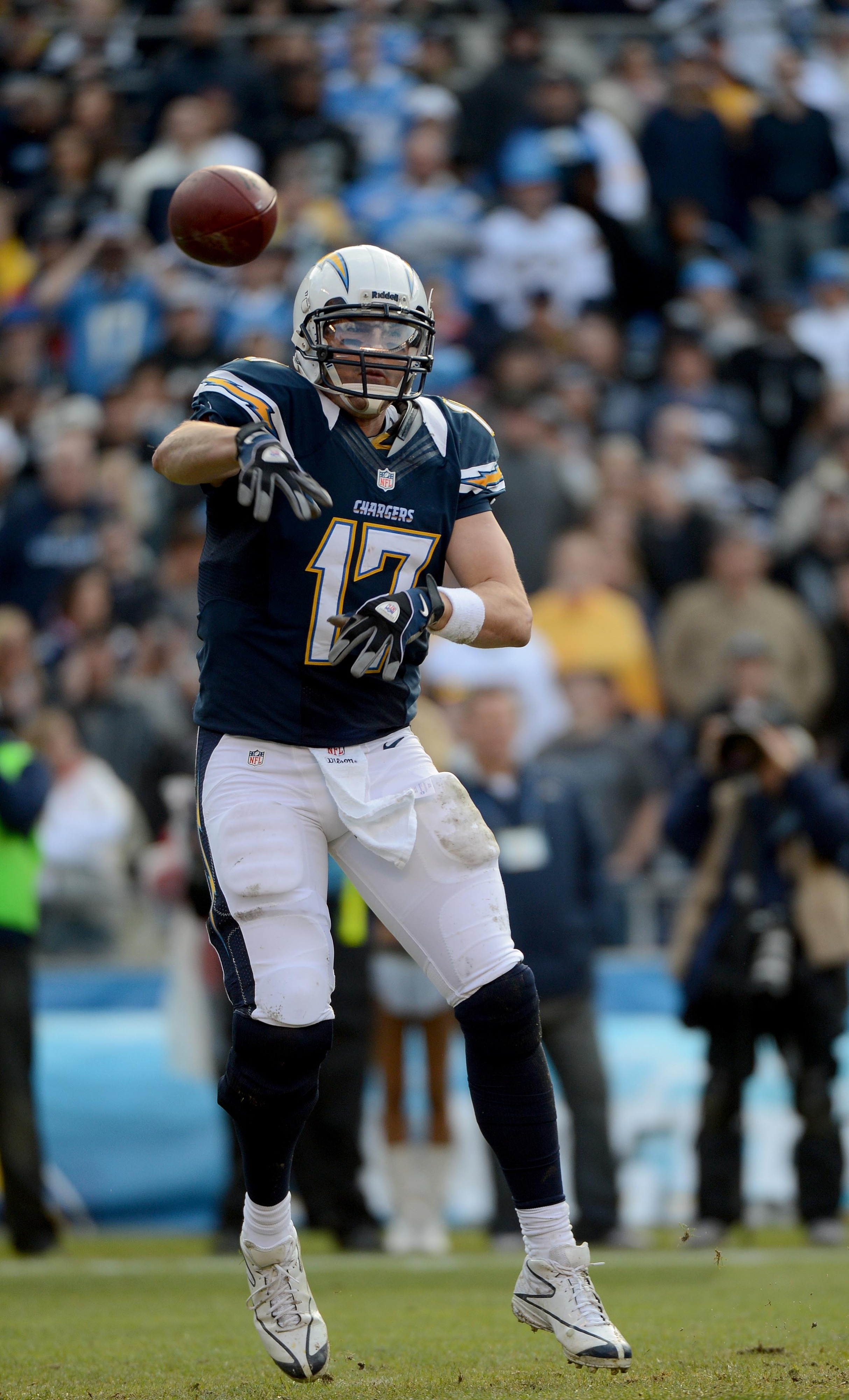 Where is San Diego Chargers QB Philip Rivers other glove Bolts