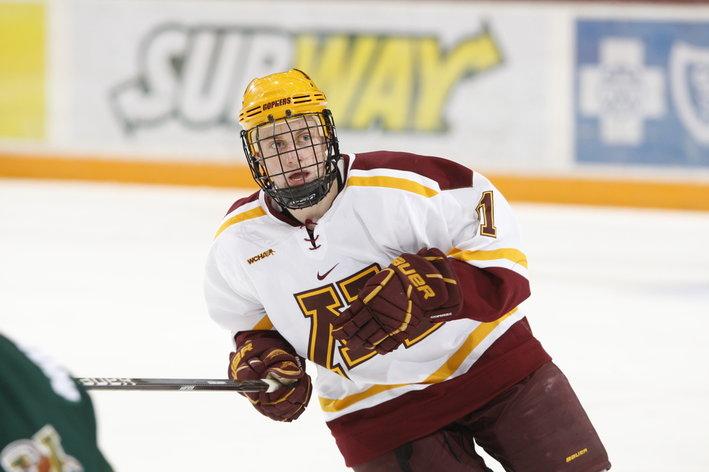 BIG10: Michigan's Andrew Copp, Minnesota's Sam Warning & Kyle Rau Named Three Stars