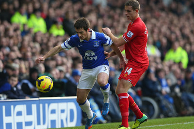 Leighton Baines to undergo x-rays on his toe after leaving Merseyside Derby early
