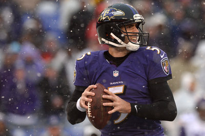 Ravens quarterback Joe Flacco performs slightly better inside dome stadiums