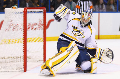 Pekka Rinne prepares to play again for the Milwaukee Admirals
