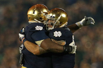 score of the notre dame football game national championship football score
