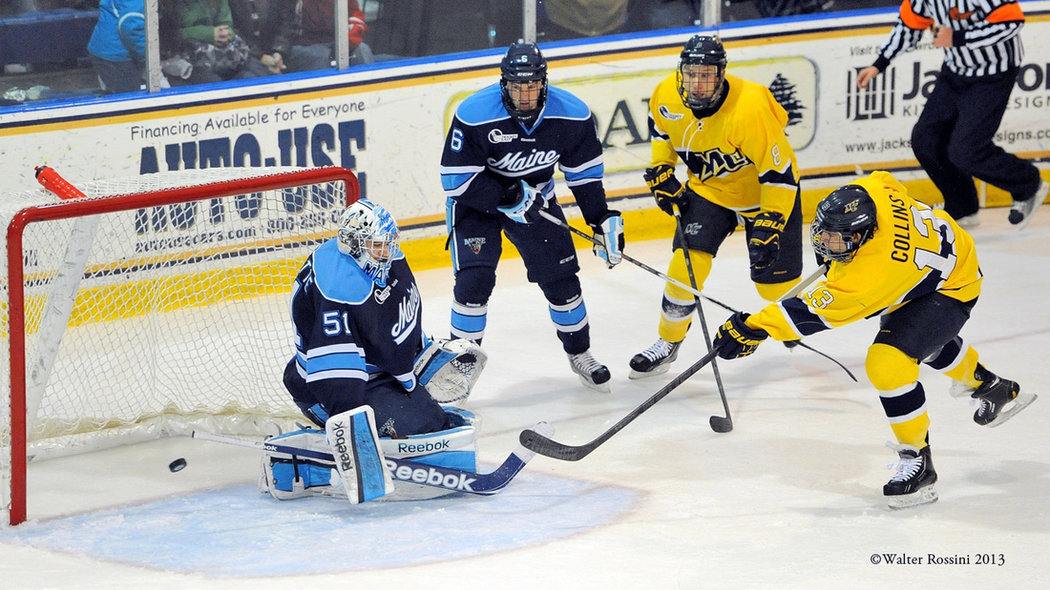 Hockey East: Merrimack Vs. Maine - Warriors Open Three-game Head-to-head Stretch With 6-0 Win