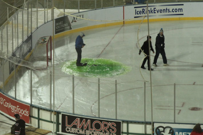 WCHA: Ice Coolant Spill, Rain Threatened Outdoor Hockey Game At Omaha Yesterday