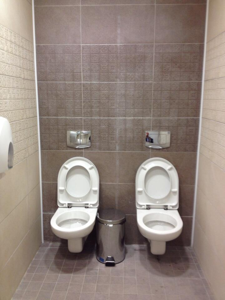Sochi's 2-man toilets make for a cozy same-sex connection