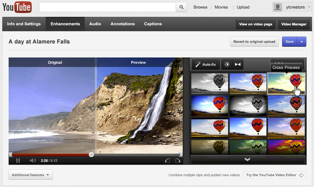 youtube video editor update
