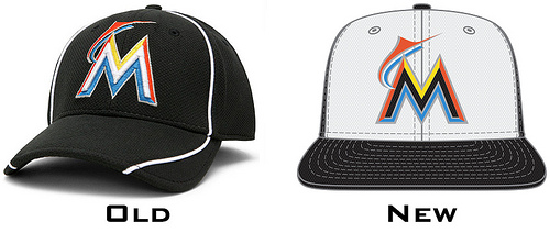 6fcfefef2c6 Miami Marlins and MLB Debut New Batting Practice Caps - Fish Stripes