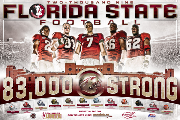 2009 College Football Schedule Posters Outsports