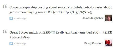 ESPN airs English soccer game, riling up the