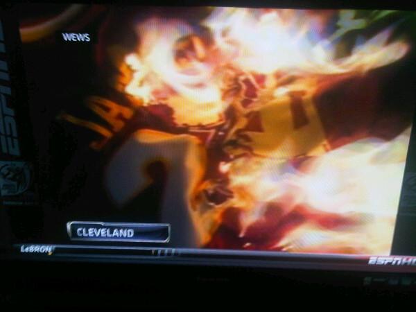 buy popular 6e87f 4dbb2 PHOTO: Cavaliers Fans Burn LeBron James' Jersey - SBNation.com