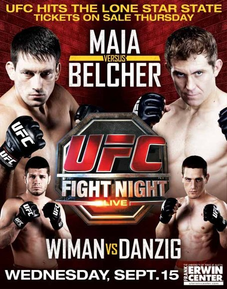 UFC Fight Night: Maia vs. Belcher – rozpiska