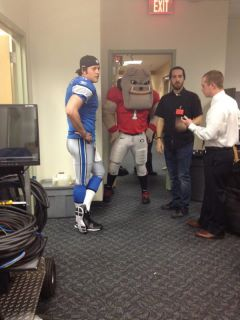 Photo Matthew Stafford Films This Is Sportscenter Commercial